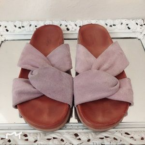 Urban Outfitters Suede Slides